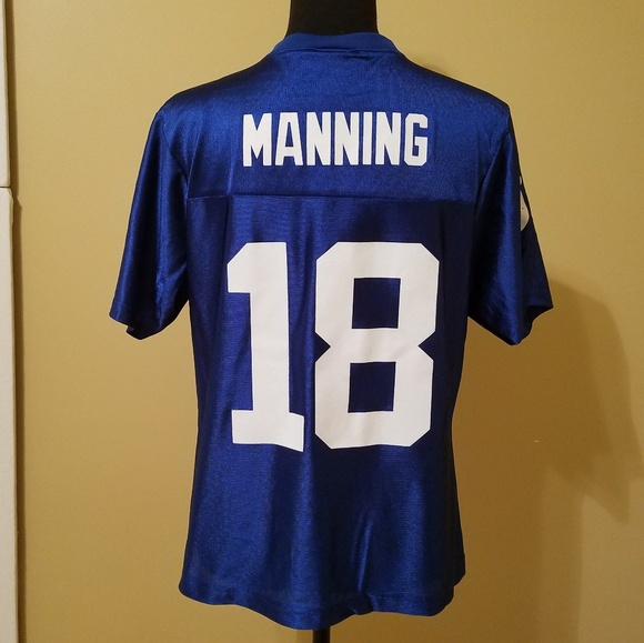 check out 5a09f cfd93 Indianapolis Colts Peyton Manning 18 Jersey Size L